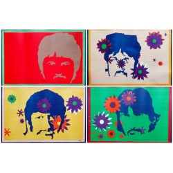 Beatles.74,5x51.lot 4 affiches