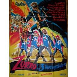 Zorro et les 3 mousquetaires 120x160