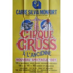 Cirque Gruss à l'ancienne.100x150
