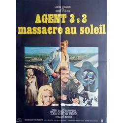 Agent 3 s 3 massacre au soleil.60x80