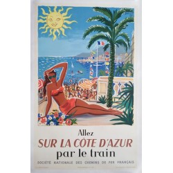 Allez sur la côte d'azur par le train.62x100