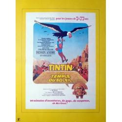 Tintin et le temple du soleil.40x60
