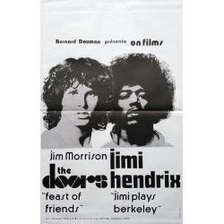 Jim Morrison The Doors Jimi Hendrix.37x58