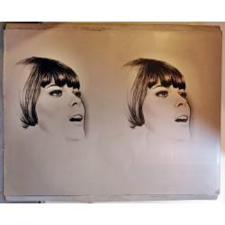 Mireille Mathieu.plaque d'imprimerie