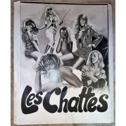 Chattes (Les).plaque d'imprimerie.120x160