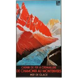 De Chamonix au Montenvers mer de glace PLM 58x98