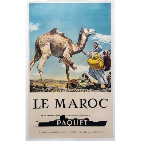 Maroc (Le) compagnie de navigation Paquet 61x98