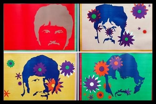 série de 4 affiches des Beatles